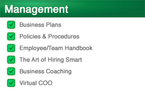 Management Services | Business Plans, Policies and Procedures, Employee Handbooks, Management / Team Coaching | Venture Consulting Group, Inc.