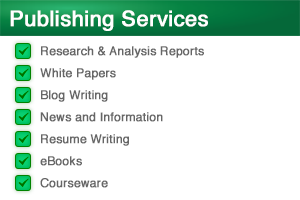 Publishing Services | White Papers, Professional Resumes, Blog Writing, Editing | Venture Consulting Group, Inc.