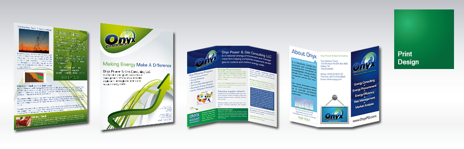 Print Design | Onyx Power & Gas Print Design by Venture Consulting Group, Inc.